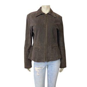 Vintage y2k brown siege jacket western studs med
